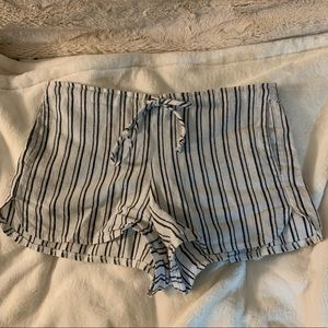 Brandy Melville Striped Tie Up Shorts